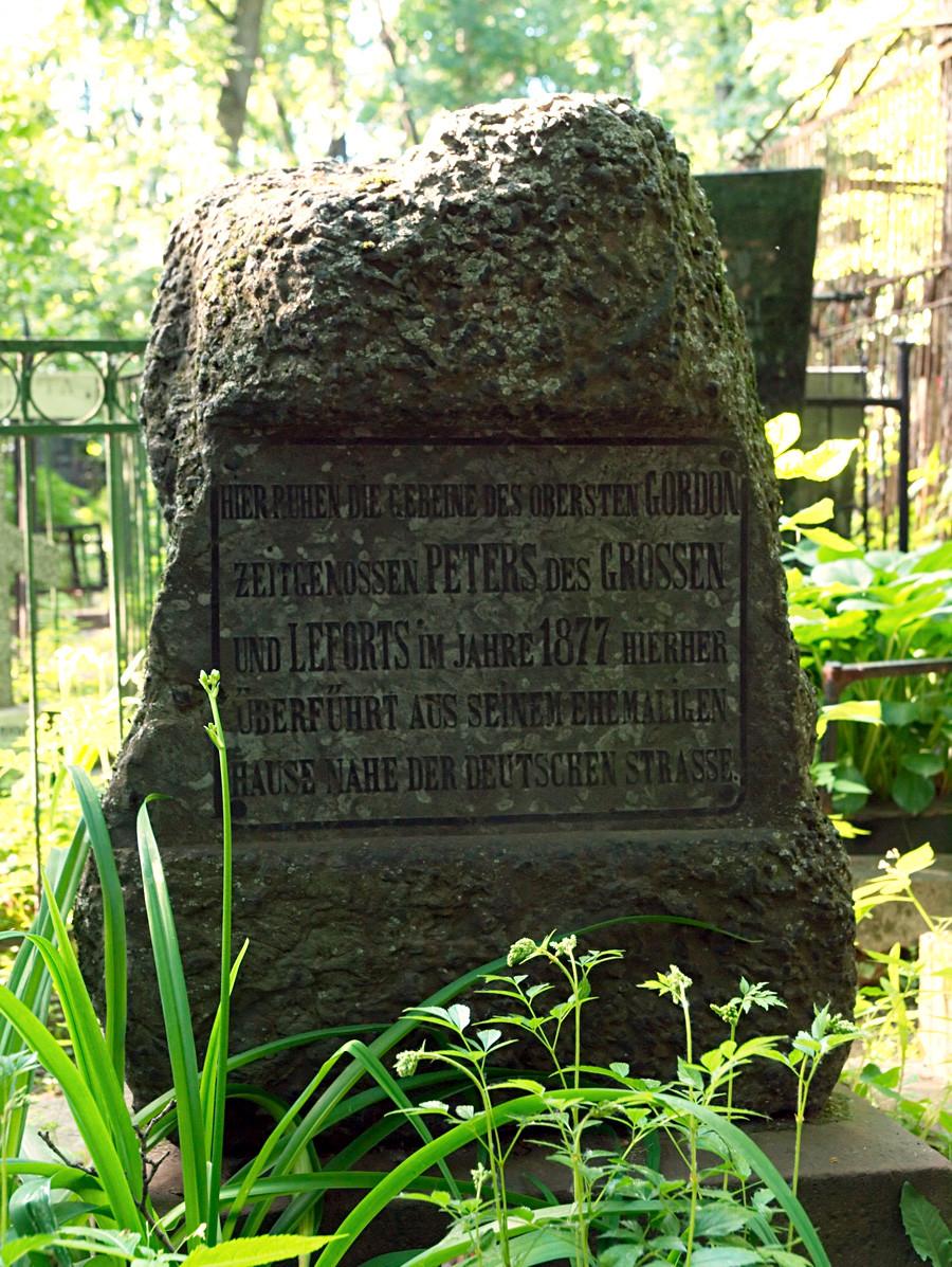 La tomba del generale Patrick Gordon