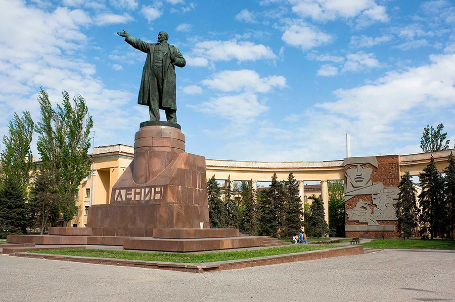 Try to find a statue of Lenin and look closely at his face