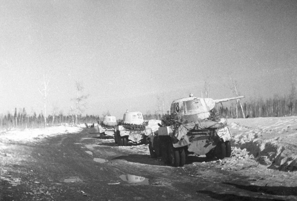 Дејства тенковске бригаде Лењинградског фронта опремљене оклопним возилима БА-10, јануар 1943. година