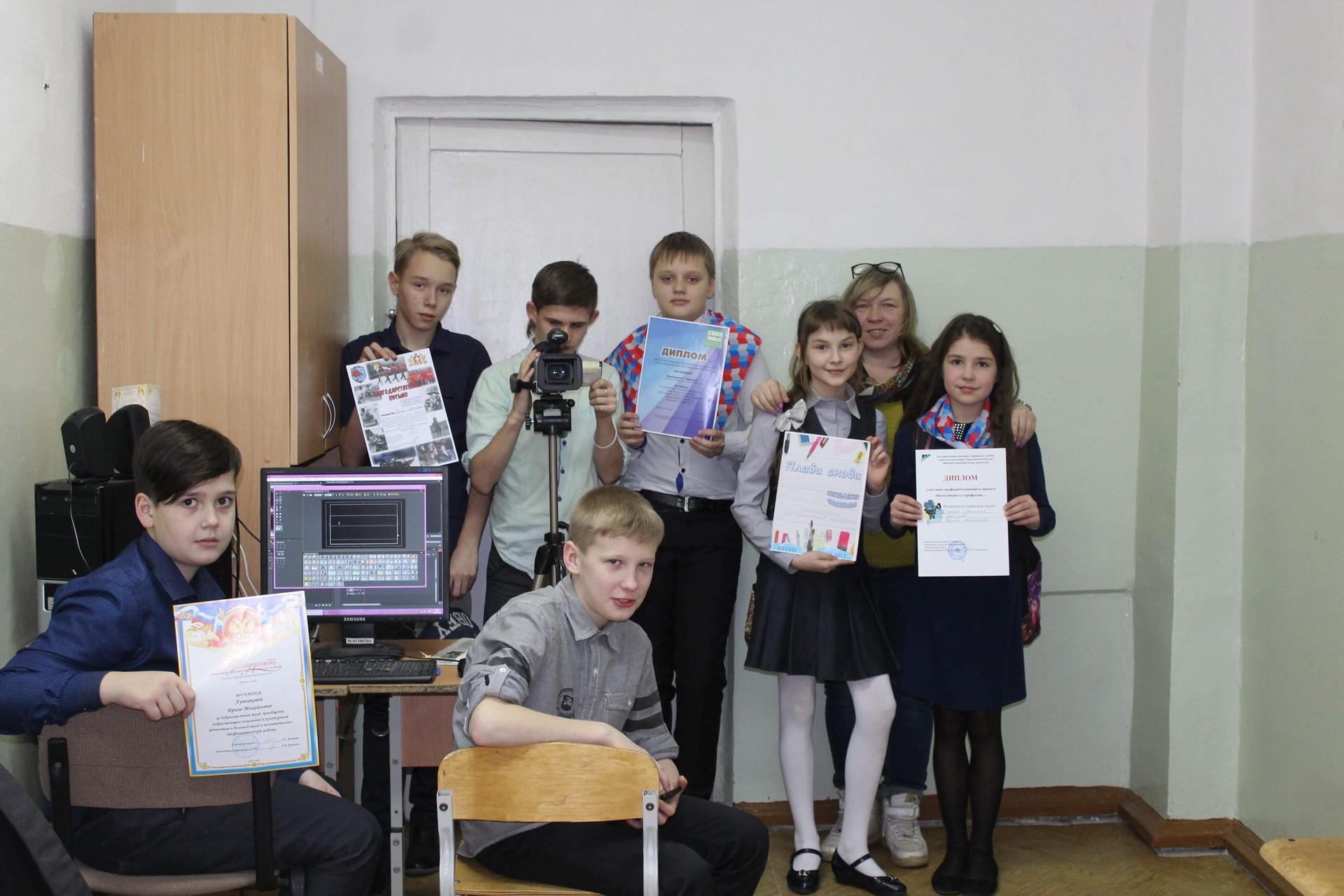 Новинарска секција у школи града Верхњаја Салда под руководством учитељице Ирине Лучњикове