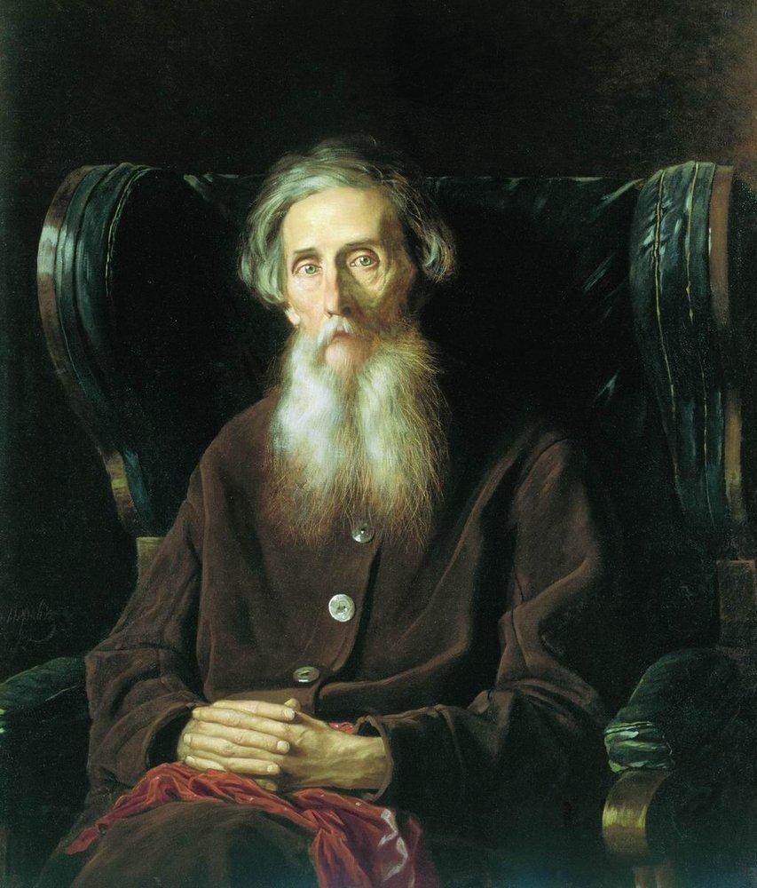 Porträt W. Dal von Wassilij Perow, 1872