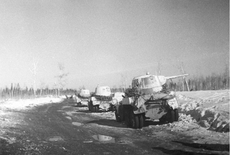 Januar 1943, tankovska brigada leningrajske fronte.