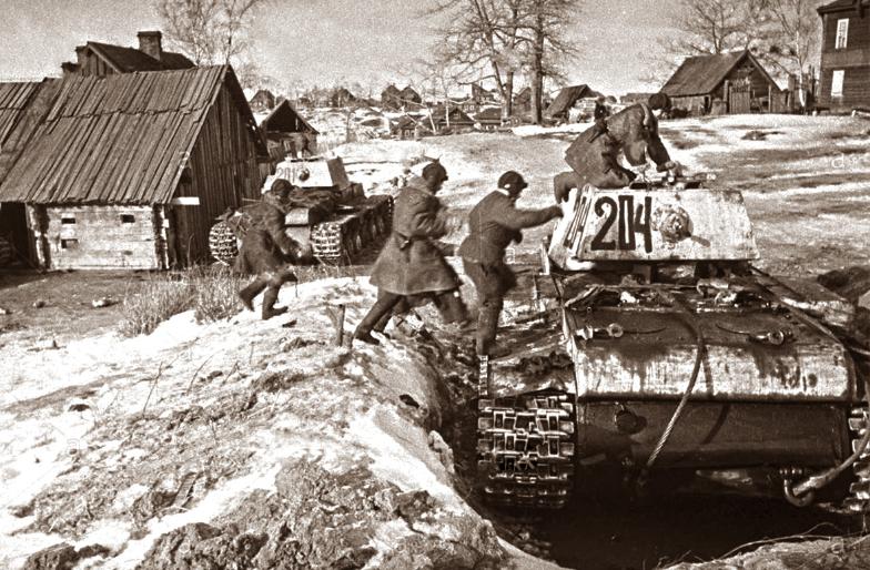 Enote leningrajske fronte pred začetkom operacije.