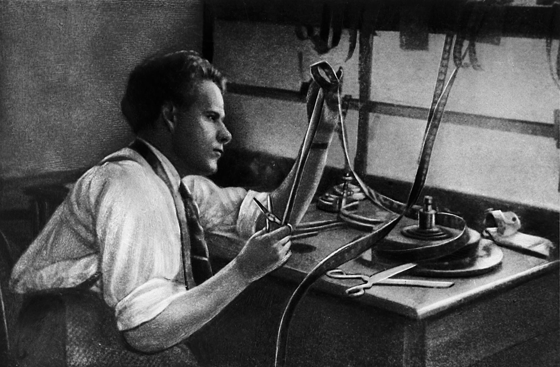 Sergej Ejzenštejn. 1925. Reprodukcija.