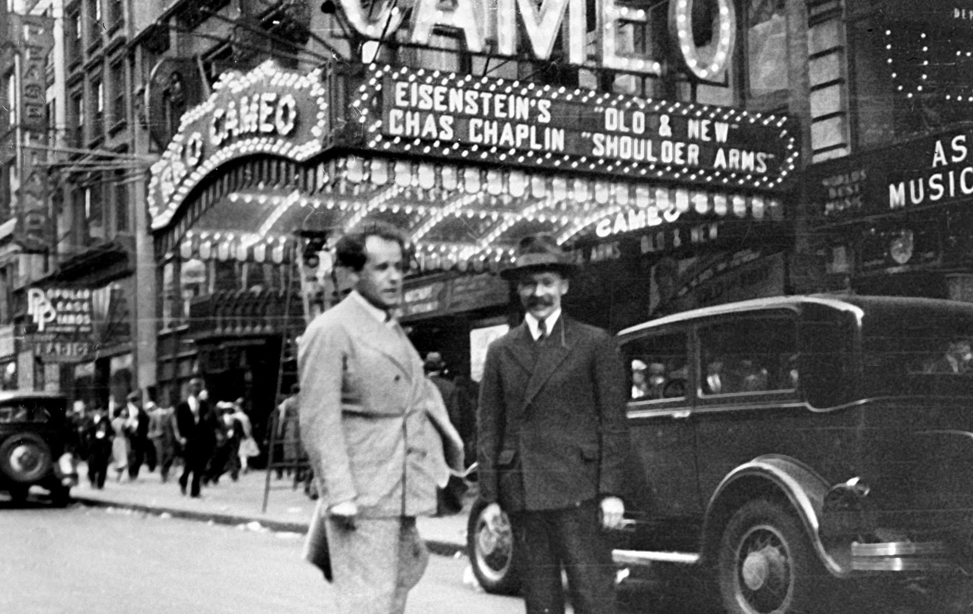 セルゲイ・エイゼンシュテイン(左側)、ニューヨーク、1930年