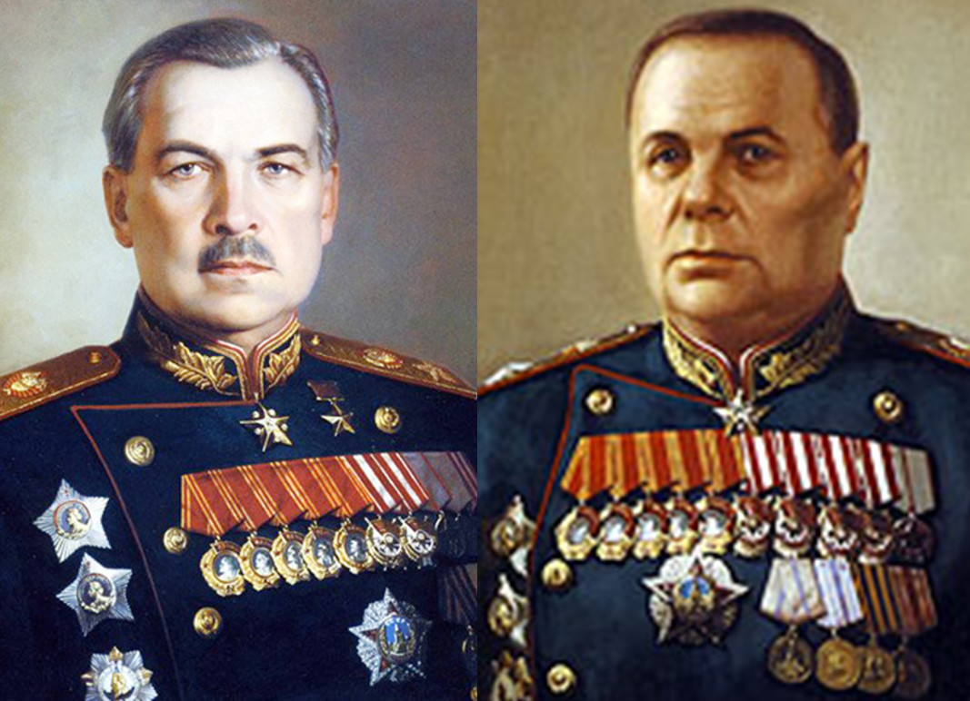 Zapovjednik Lenjingradskog fronta, general-pukovnik Leonid Govorov. i zapovjednik Volhovskog fronta, general Kiril Mereckov.