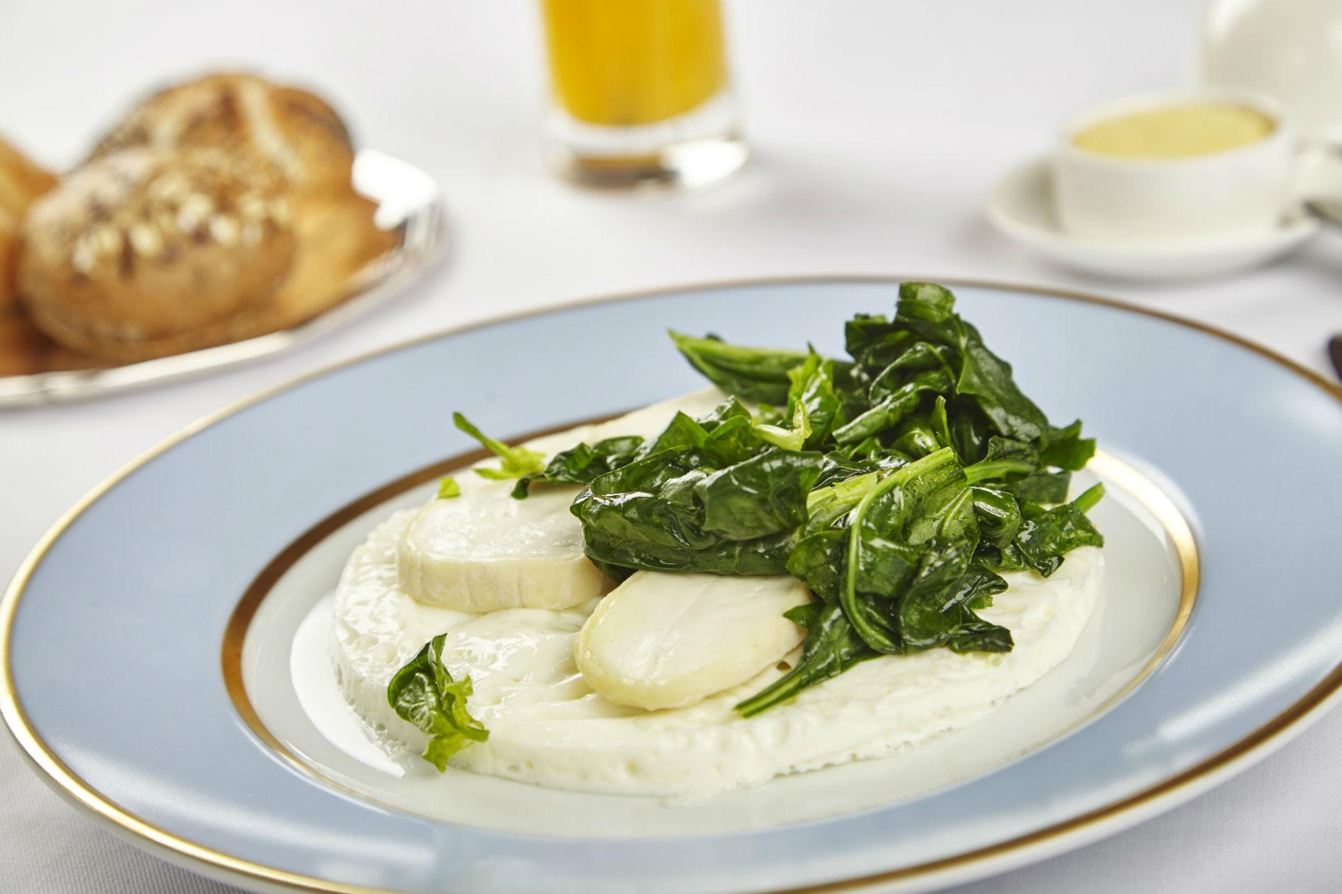 Omelette blanche au fromage de chèvre
