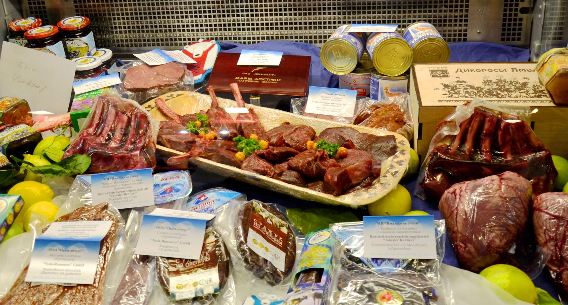 Wildfleisch aus der Region Jamal wird auf ganz unterschiedliche Art verarbeitet.