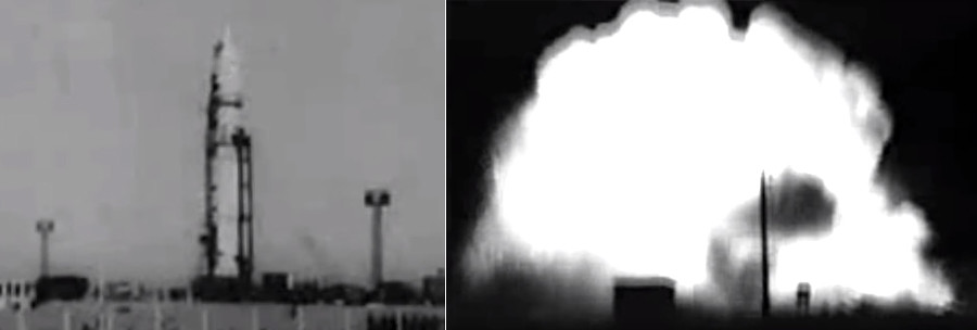 На лансирни полигон су се излиле на дестине тона ракетног горива. Многи који су се нашли у близини живи су изгорели.