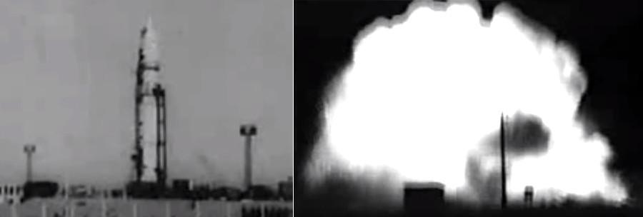 Na lansirni poligon su se izlile na desetke tona raketnog goriva. Mnogi koji su se našli u blizini živi su izgorjeli.