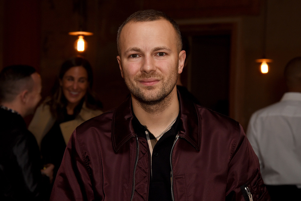 Gosha Rubchinskiy attends the private view of Burberry's 'Here We Are' exhibition, September 2017, London.
