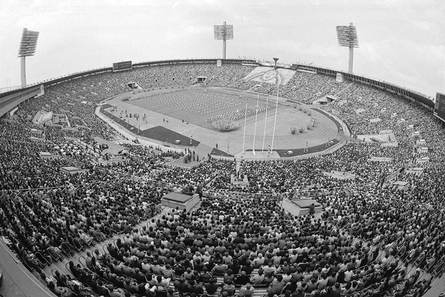 Estampida en el estadio Luzhnikí.
