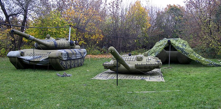 Tanques hinchables rusos.