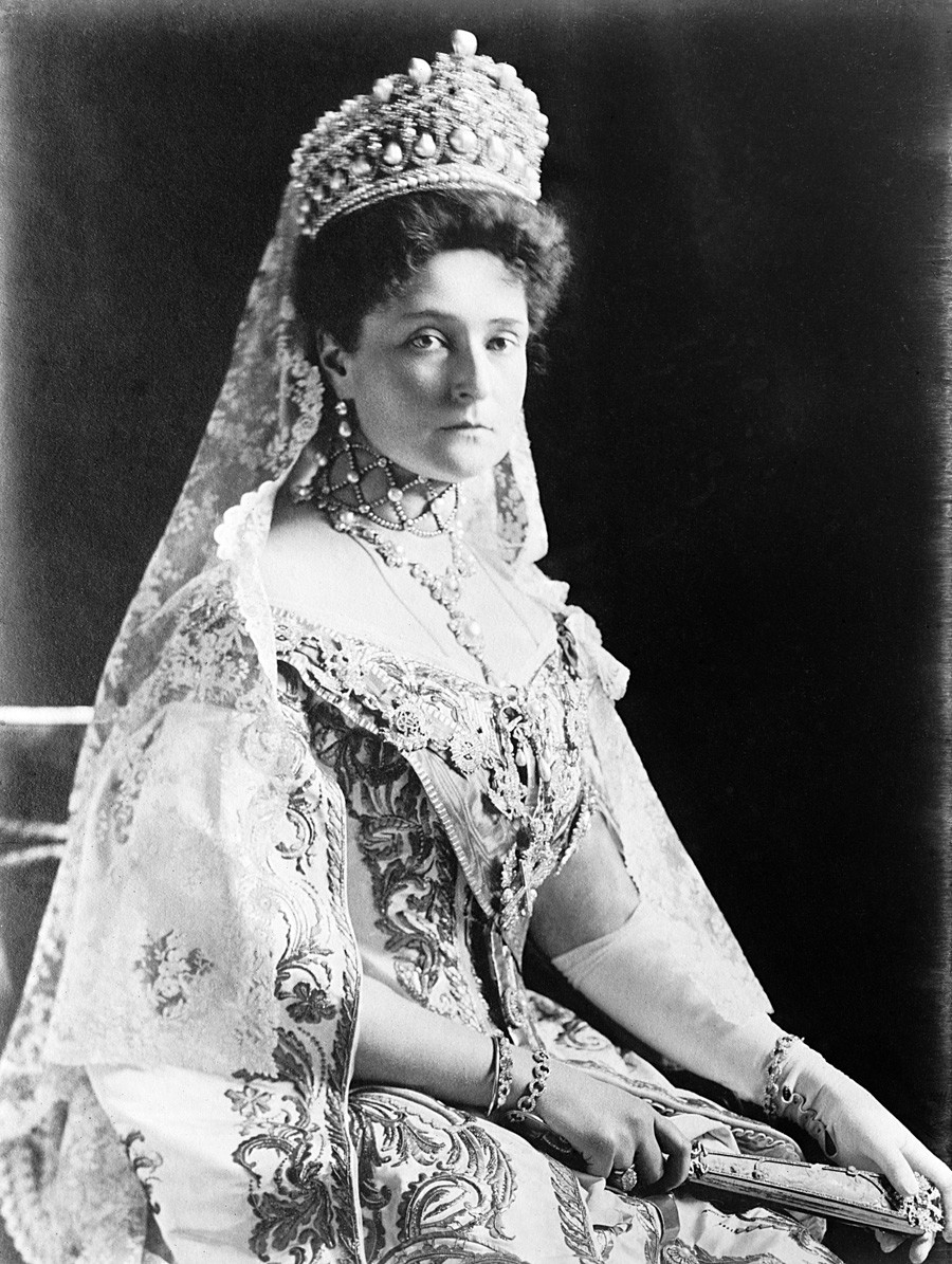 Сопругата на Николај Втори, Александра Фјодоровна.