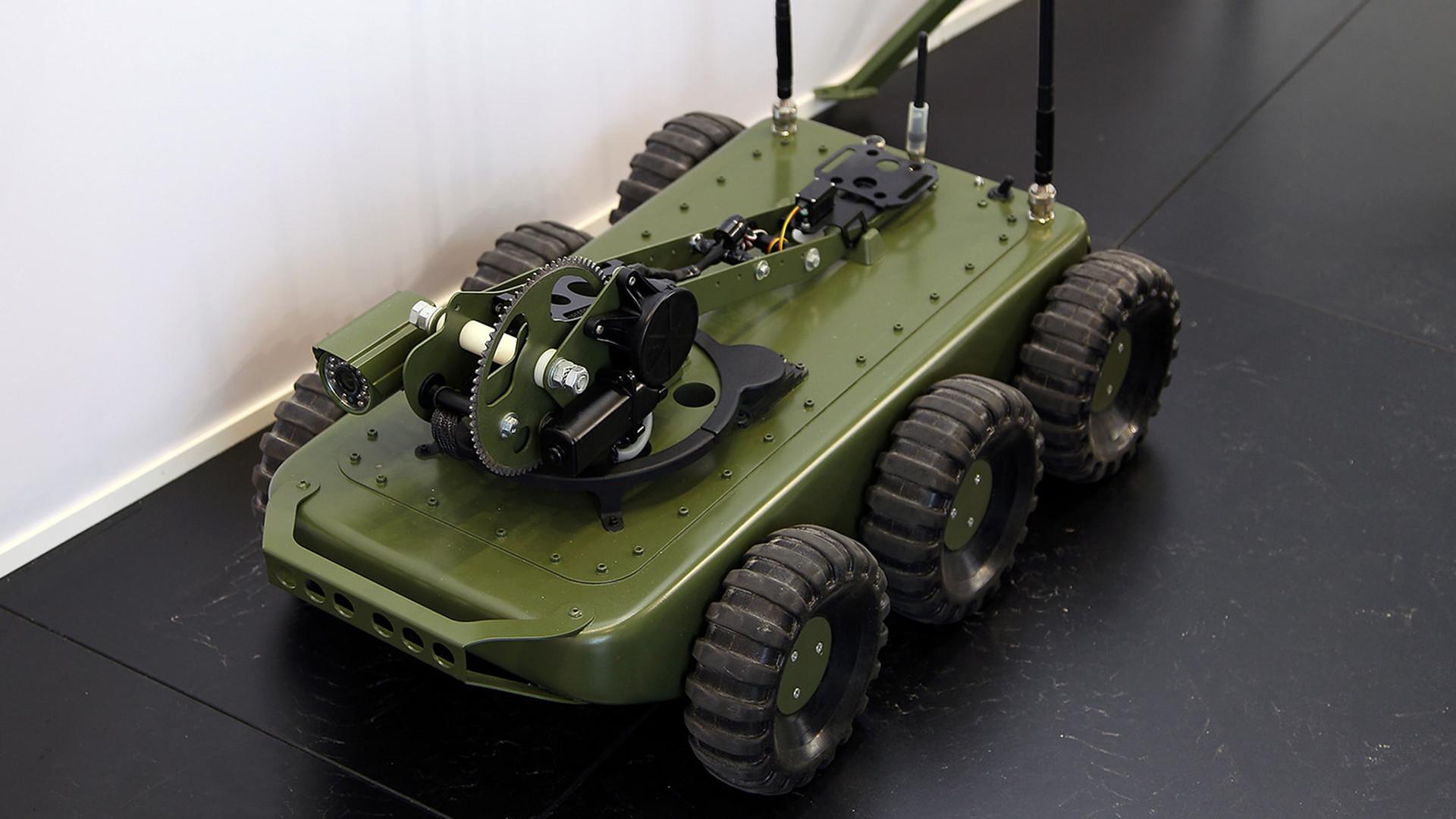 La Guardia Nacional Federal de Rusia está desarrollando un nuevo robot de reconocimiento.