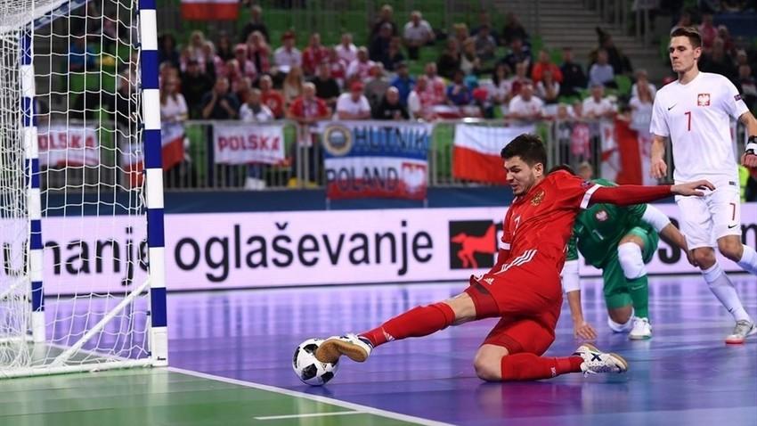 Prizor s tekme Rusija:Poljska v Ljubljani