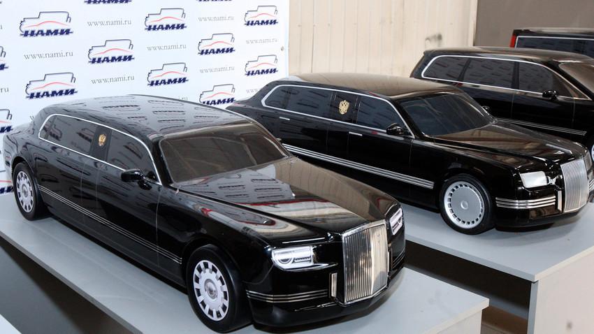 """El próximo modelo de vehículo oficial del presidente de Rusia, apodado el """"Cortege""""."""