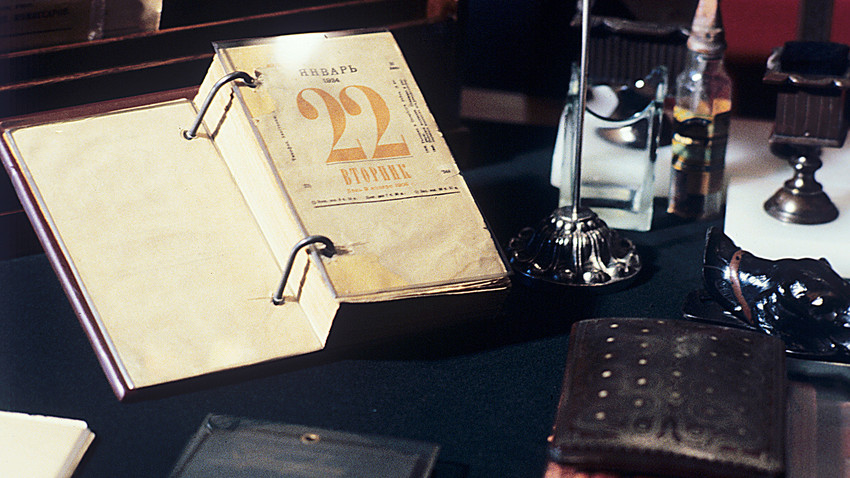 ウラジーミル・レーニンが使っていた卓上カレンダー
