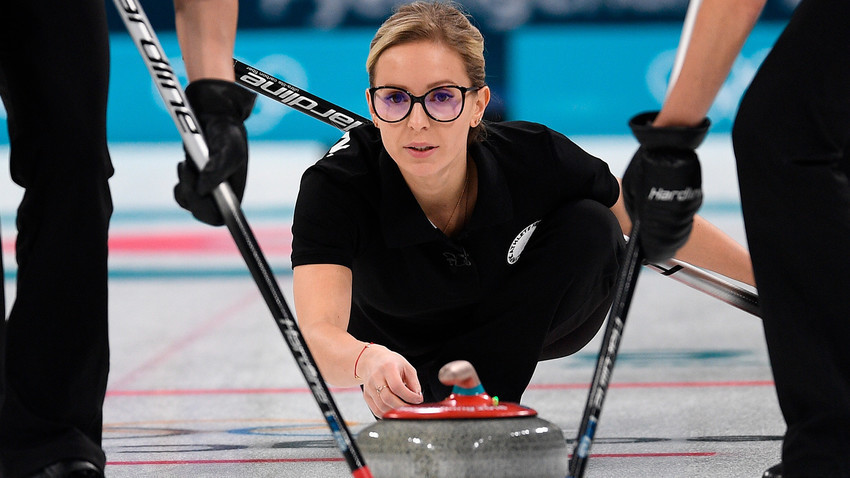 Galina Arsenkina, tim curling.