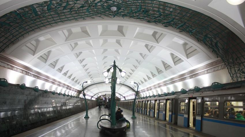 "Die neue Moskauer Metro-Station ""Slawjanskij Bulwar"""