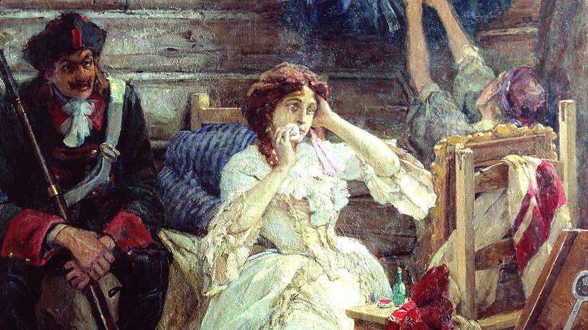 Мери Хамилтън преди екзекуцията.
