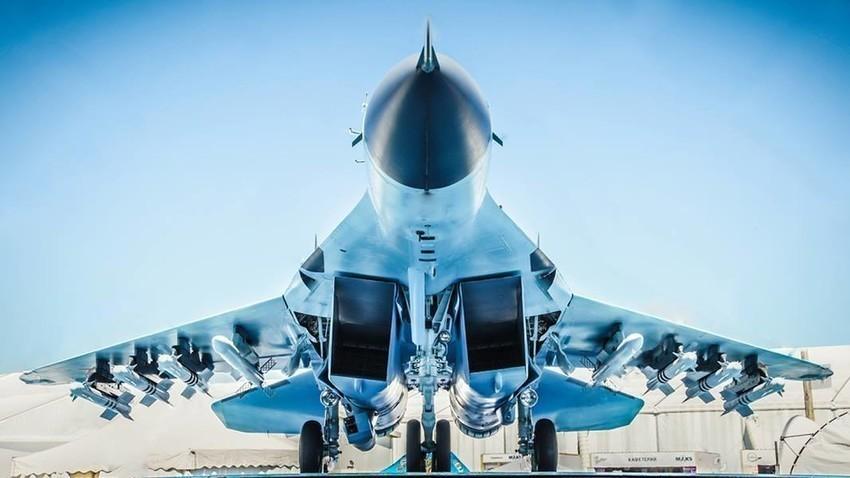 """МиГ-35 на авиокосмическото изложение """"МАКС 2017""""."""