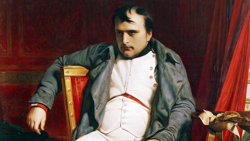 Portret Napoleona, avtor Paul Delaroche, 1814