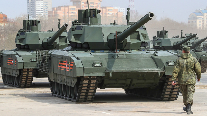 russia s t 14 armata tank to be equipped with new advanced. Black Bedroom Furniture Sets. Home Design Ideas