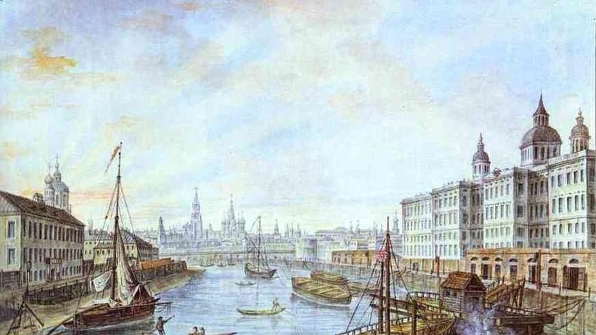 Fjodor Aleksejev, Bolnišnica za najdenčke v Moskvi, 1800.