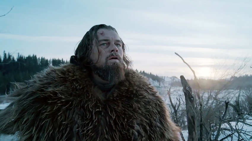 "Leonardo DiCaprio in una scena del film ""The Revenant"""