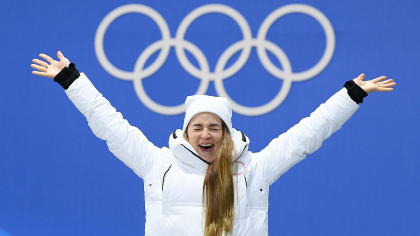 Julija Belorukova, prejemnica dveh bronastih medalj v smučarskih tekih.