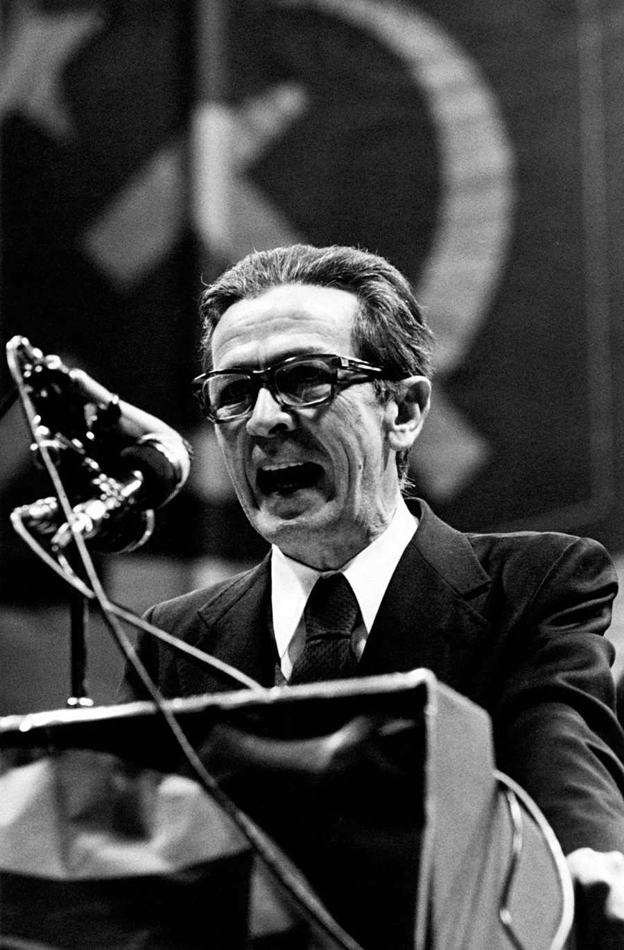 Enrico Berlinguer, segretario generale del Partito Comunista italiano