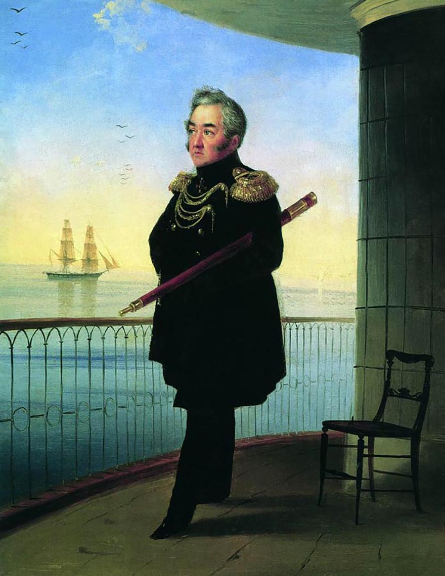 Michail Lasarew (1788 - 1851) im Porträt von Iwan Ajwasowskij