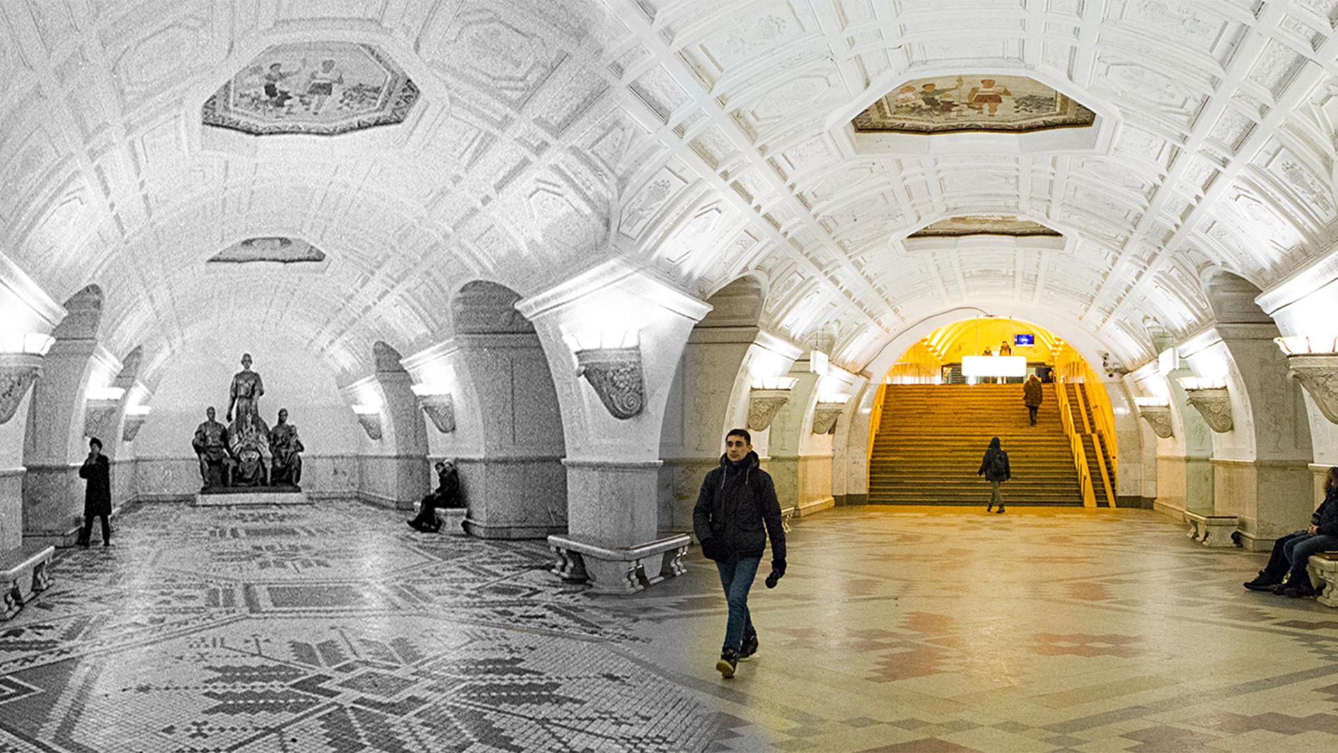 Estación de metro Belorússkaia.