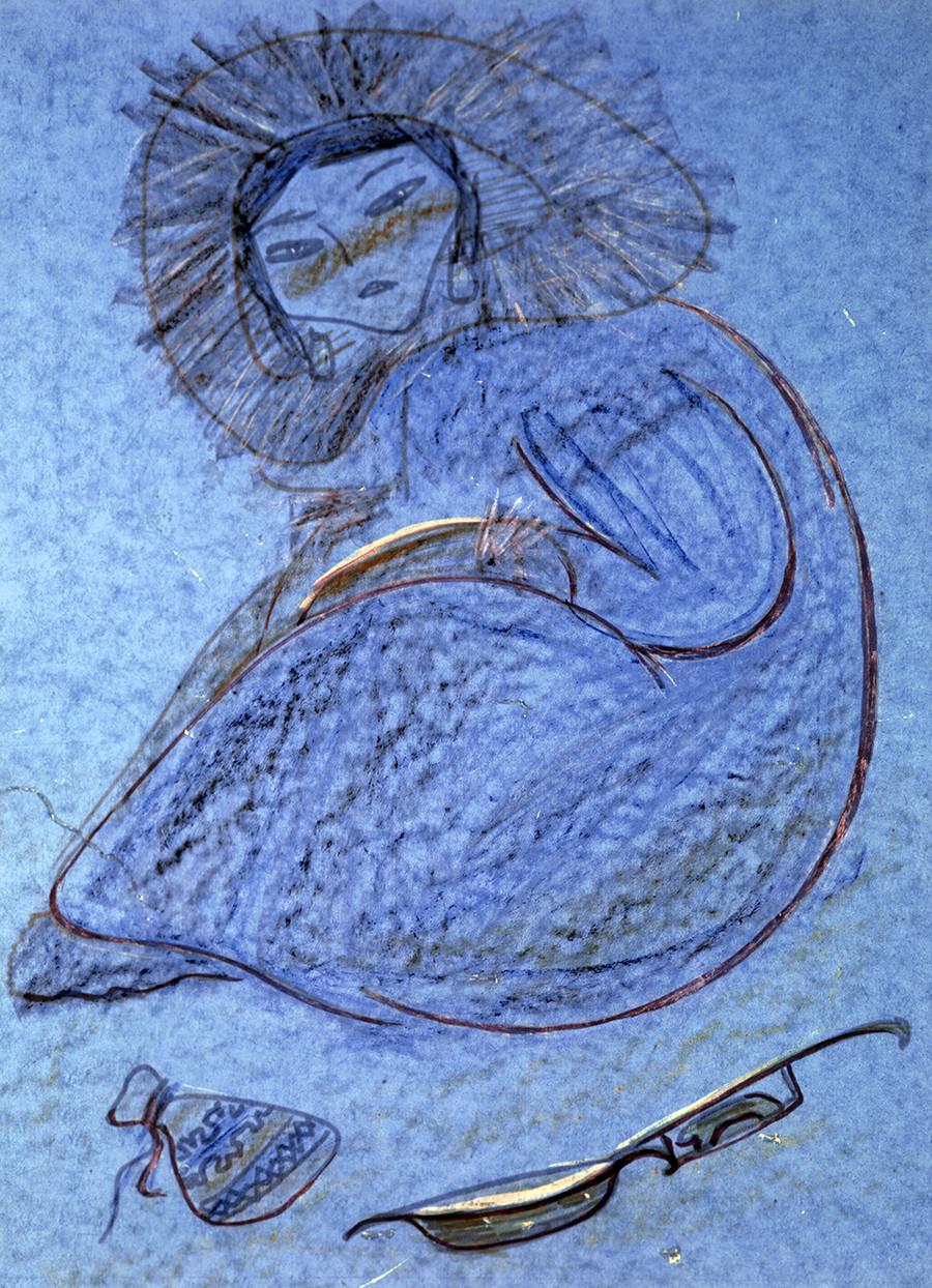 「トゥバの歌」、1965年(13歳)