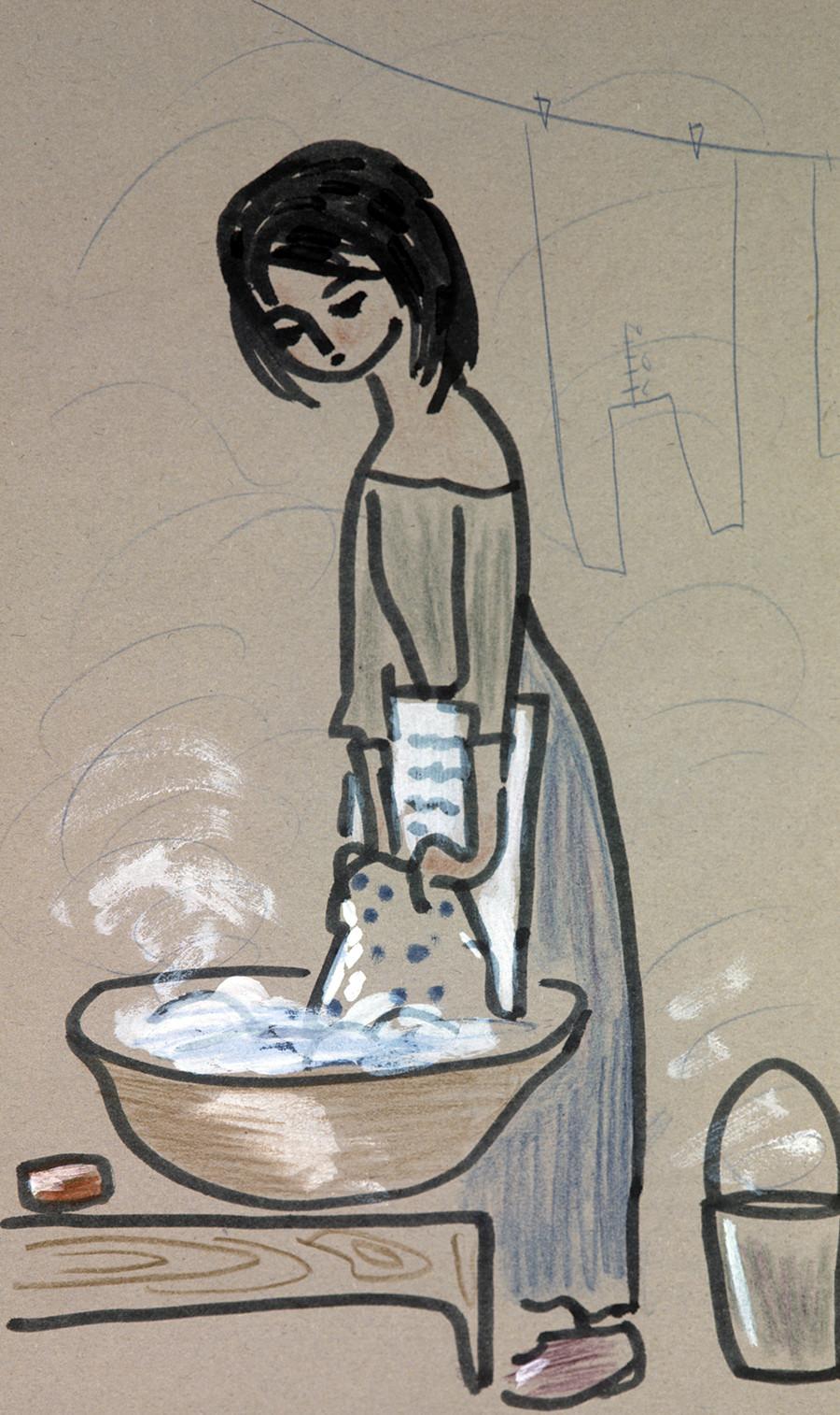ヴィクトル・ユーゴー、「レ・ミゼラブル」のための挿絵(1966年、14歳)