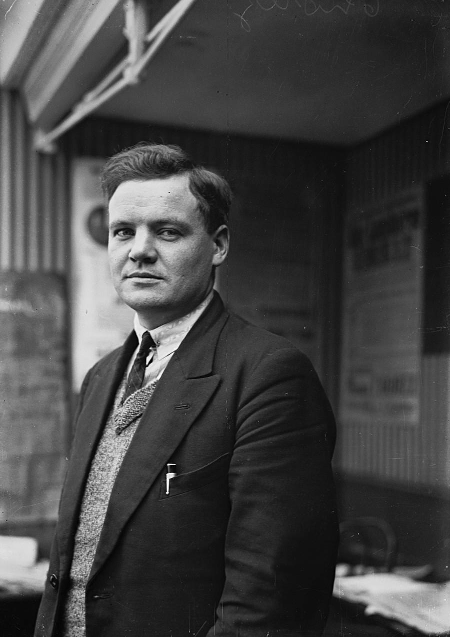 Морис Торез, лидер на ФКП, снимка от 1930 година.
