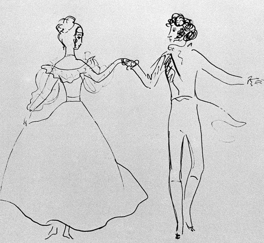 Desenho de Nádia Rucheva,