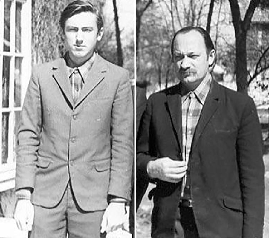 プラナス・ブラジンスカス(右側)とその息子アリギルダス