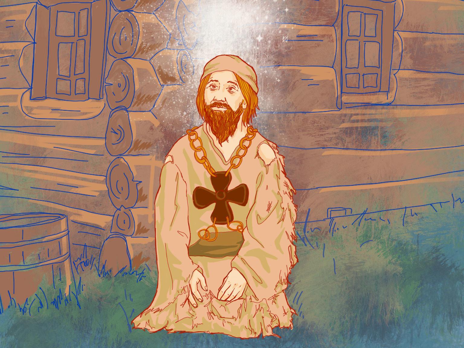 """Uno jurodivyj, """"un folle in Cristo"""""""