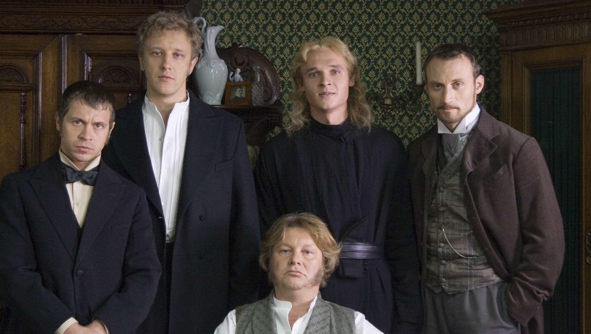 "Foto di scena del seriale del 2008 ""I fratelli Karamazov"" del regista Jurij Moroz"