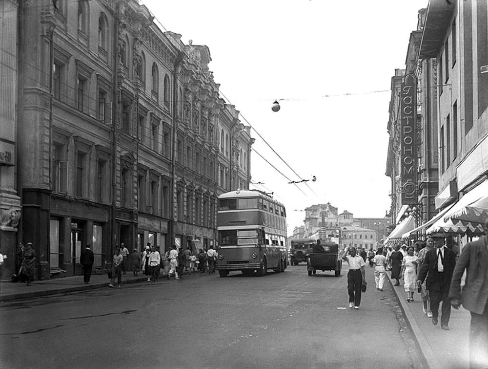Тверска улица 30-их година прошлог века.