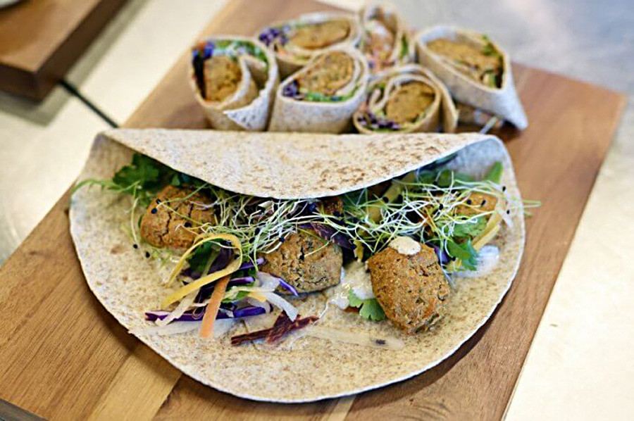 Falafel with mealworms