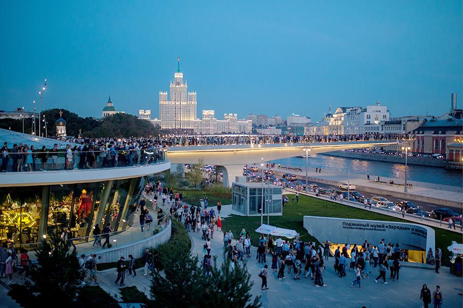 Zarjadje je zanimljivo mjesto za istraživanje i Moskovljanima, a kamoli posjetiteljima.