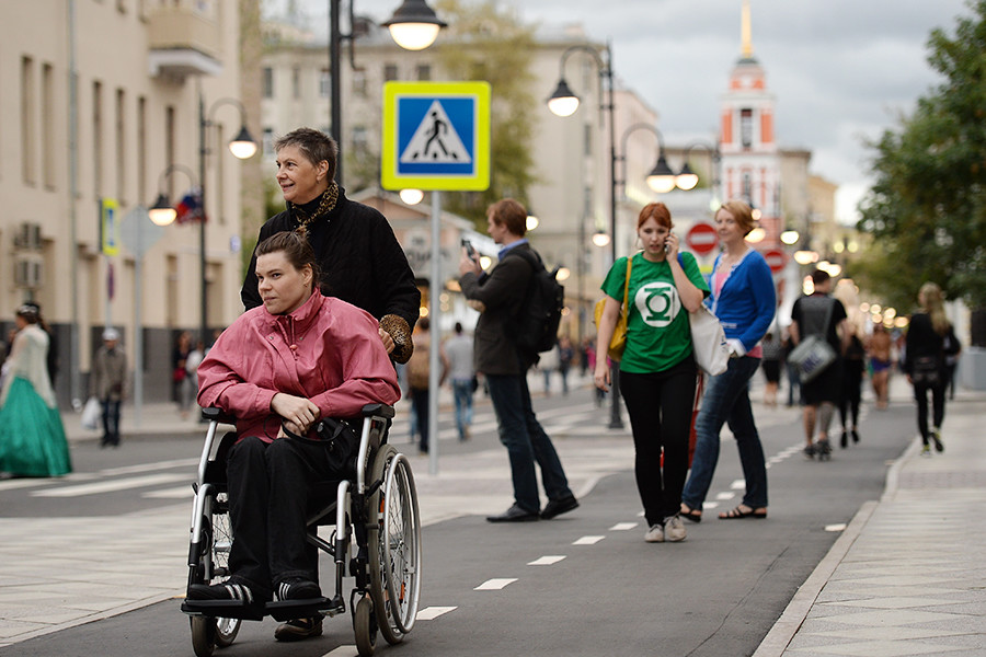 Both Moscow and St. Petersburg have many pedestrian zones