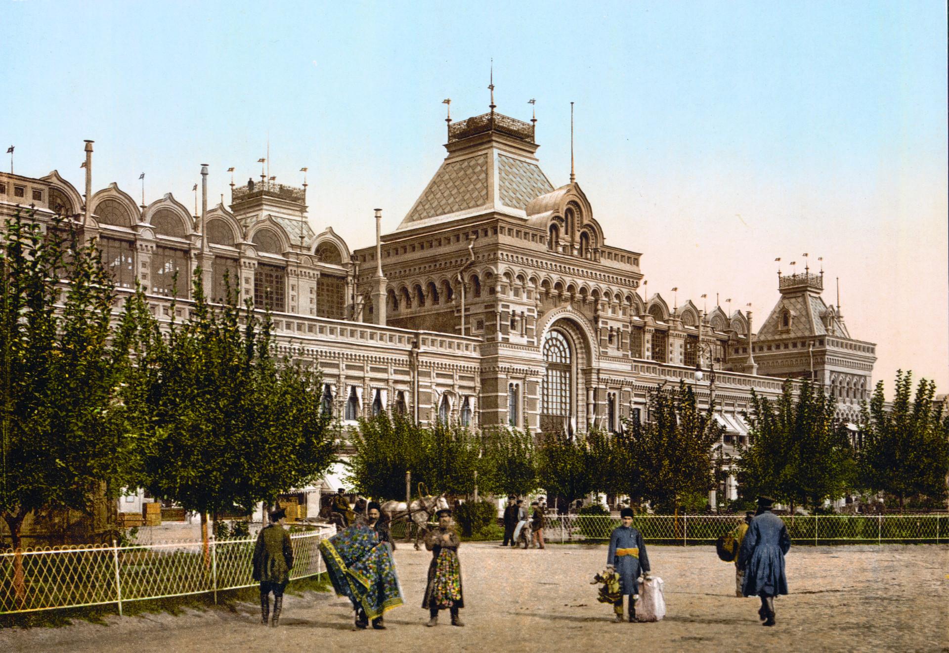 Glavna tržnica v Novgorodu v času Murkovega potovanja
