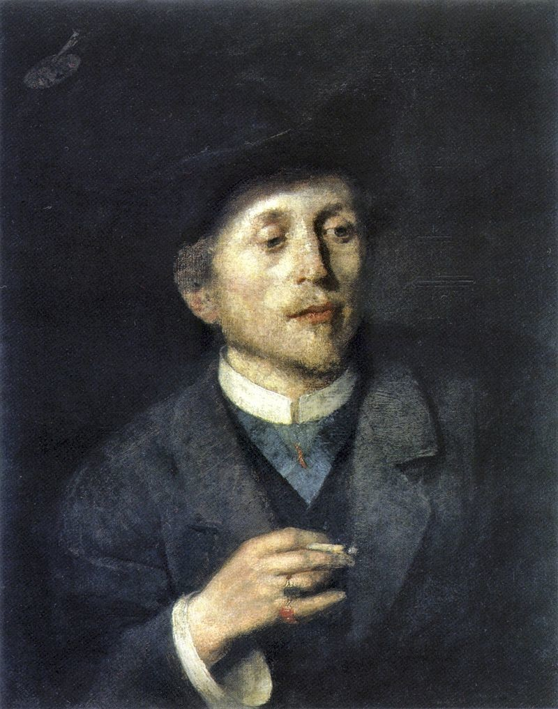 Portret Antona Ažbeta, 1886