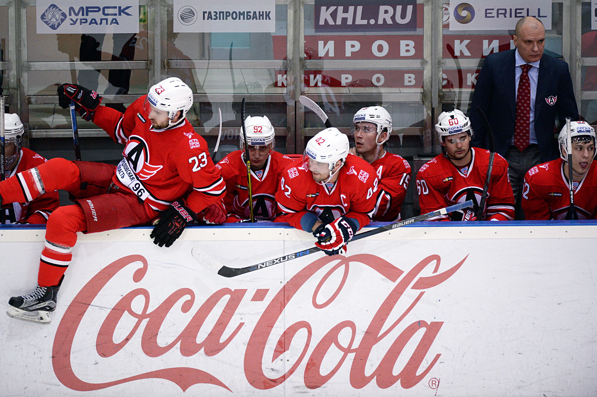 Coca Cola, known for its support to sporting events, is a partner of the Kontinental Hockey League (KHL) headquartered in Moscow. Being an official drink of the KHL it gets an extra boost to its image in the country.