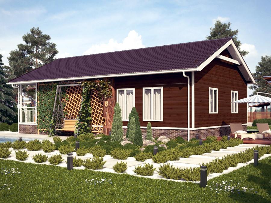 Projeto em 3D de uma casa típica na colônia de desenvolvedores
