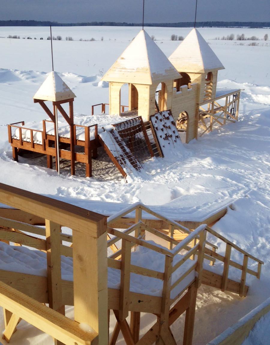 Playground improvisado pelos criadores da primeira colônia independente de TI na Rússia